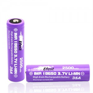 Accus EFEST 18650 2500mAh (2pcs)